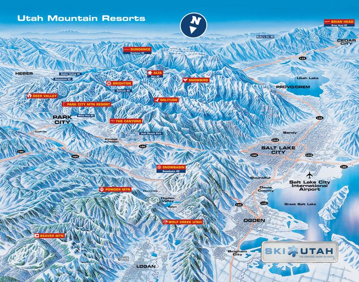 Ski Utah Map Utah Family Ski Resorts | Family Skier